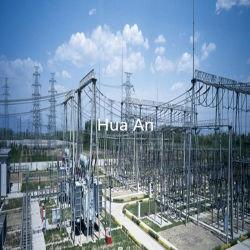 La puissance de transmission électrique Tube en acier galvanisé à chaud Structure des postes électriques