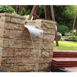 Pizarra piedra natural de la pared del panel de chapa de piedra natural