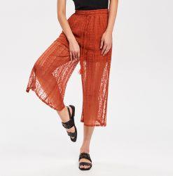 Moda Trouse Holidy playa Puntilla amplio pantalón pata de la mujer