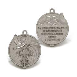 Высокое качество Серебряный приз сувениров медальон полиции Star подставка,