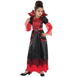 Скелетный вампир детей королевы Хэллоуин костюм