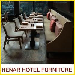 Mesa De Comedor sillas y sofás de cabinas del Hotel Mobiliario de restaurante de madera
