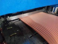 Cuivre universelle dentelée Échangeur de chaleur ondulées Turbulator ailettes du refroidisseur d'huile