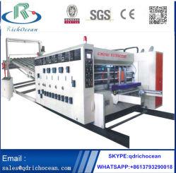 自動にFlexoの印刷の細長い穴がつくことおよび回転式型抜き機械