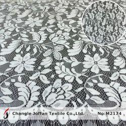 Merletto svizzero del voile del merletto di stirata del tessuto del vestito di modo elastico del tessuto (M2174)