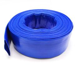 Blauw Flex pvc legt de Vlakke Slang van de Waterpijp van de Lossing met AntiChemisch product