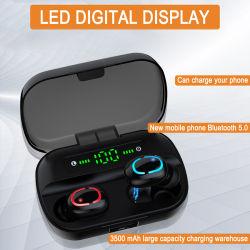De waterdichte Mini Ware Draadloze StereoHoofdtelefoons Earbuds van de Oortelefoon Bluetooth met het Laden van Geval voor Smartphones