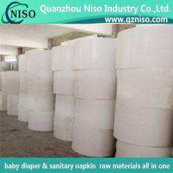 Tejido de soporte para el embalaje Jumbol Rollo, toalla sanitaria la materia prima, Pañales de materias primas con SGS