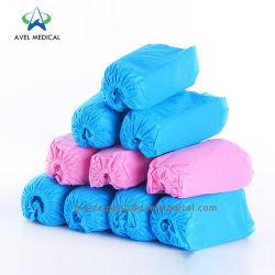 O PVC azul descartáveis Shoecover/Leveza PE+CPE protecções para sapatos azuis