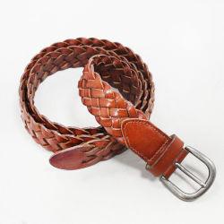 Gevlochten Woven Casual Belt voor Fashion Accessoires van leer met koeienleer