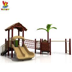 Парк развлечений Лесные игровые наборы Детская игрушка Детские крытых игр вне помещений Игровая система Пластиковые трехаус заводская цена Детский Slide Малый пляж Оборудование для игровых площадок