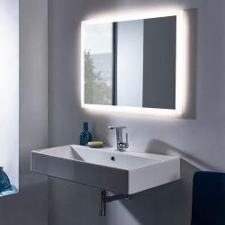 3000K-5000K 5mm Imagens HD Silver Decoração montado na parede LED banho iluminadas espelho com iluminação traseira