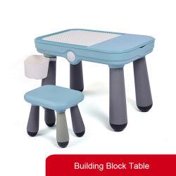 Kindergarten-pädagogisches Plastikspielzeug-Innenbaustein-Tisch der Kind-DIY