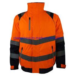 새로운 디자인 Ripstop 폴리에스테 옥스포드 겨울 안전 착용 폭격기 또는 조종사 재킷