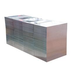 Plaque en aluminium anodisé poli enduits décoratifs brosse miroir feuille en aluminium en alliage (1050,1060,2011,2014,2024,3003,5052,5083,5086,6061,6063,6082,7005,7075)