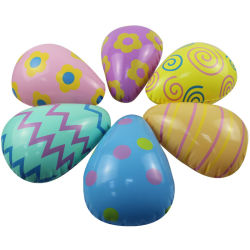 Забавные красочные надувные ПВХ экологически безвредные пасхальных яиц на Пасху Группа наград