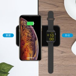iPhone Apple 시계를 위한 1마리의 무선 충전기에 대하여 Qi 공군력 Portable 2