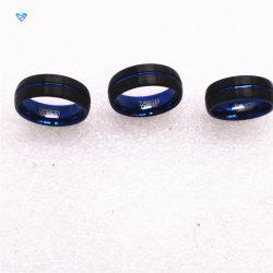 方法青く堅い金属指リングの習慣のロゴ