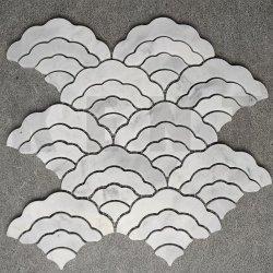 Decoratief bouwmateriaal onregelmatig marmer steen mozaïek voor muurtegels