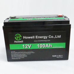 12V 7Ah/20Ah/40Ah/100Ah/200Ah LiFePO recarregável de íon de lítio4 para armazenamento Solar Power/UPS