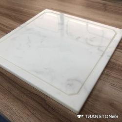 Полированный Фо Оникс камень индивидуальные белый специалисты Alabaster счетчик верхней части