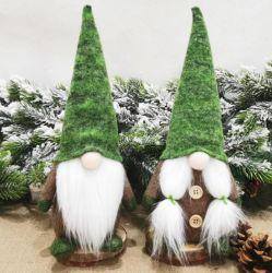 얼굴이 없는 인형 연약한 견면 벨벳 장난감 노인 인형 장신구를 서 있는 새로운 크리스마스 훈장