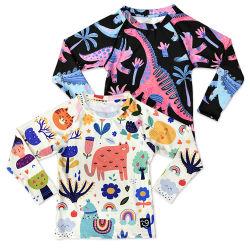 키즈 긴팔 선보호복 수영복 발진 보호대 셔츠 베이비 토들러 UV 비치 라시리