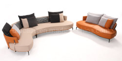 Lichtbogen-Form-Sofa für Wohnzimmer mit Armlehne