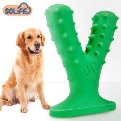 TPR犬のおもちゃ、おもちゃをかみ砕いている骨の形犬