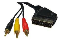 Scart van uitstekende kwaliteit aan 3RCA de Kabel van AV (WD13-003)