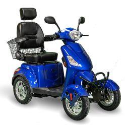 2021 중국 새로운 디자인 500W 600W 1000W 전기 4륜 이동식 스쿠터, 구형 또는 장애인용, 4륜 전동 핸드스탭 스쿠터