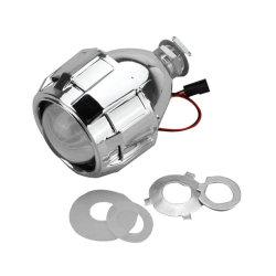 Hüllt das 2.5 Zoll VERSTECKTE Xenon-Bi-Xenon-Projektor-Objektiv-Umbau-Auto, das Lampe des Scheinwerfer-DIY für Birne H1 mit Silber anredet, H4 H7 Kontaktbuchse ein