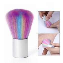 Logotipo personalizado de venda superior do arco-íris única escova de nylon da escova de maquiagem unhas Cabelos Escova de limpeza do pó