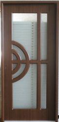 Le verre insérée panneau de bois Partition intérieure de porte de chambre