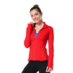 Merk Kwaliteit Ademende Transpiratie Customized Sport Running Yoga Coat Kleding Voor Dames
