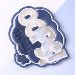Sinicline Patch de borracha de silicone 3D / Logotipos de Borracha