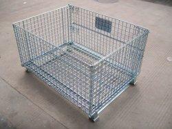China-faltbarer Stahlmaschendraht-Ladeplatten-Rahmen für Speicherung