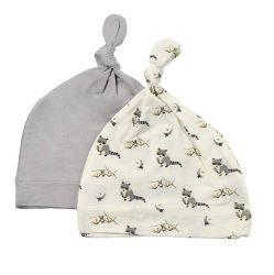 공장 조정식 소프트 귀여운 패턴 매듭형 토들러 비니 대나무 레이온 신생아 아기 모자