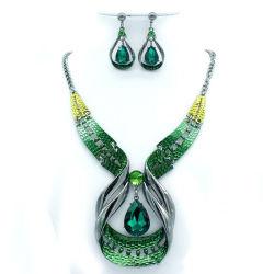 Vert fixe à la main à la mode bijoux en diamants fête de mariage de bijoux de fantaisie