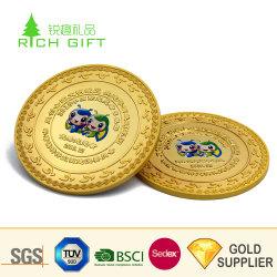 예쁜 장식 고급 맞춤 제작 금속 아연합금 골드 수집용 캐나다 챌린지 동전 마감