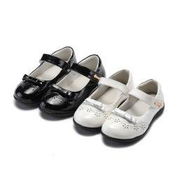 بنات جدي أطفال مقسين ليّنة [سود] جلد متصلات أحذية