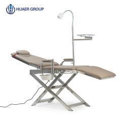 Le cuir nouveau fauteuil dentaire Portable de pliage avec les roues de voyage