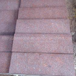 Granit bon marché flammé haut pavage de porphyre rouge des tuiles de plancher