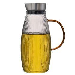 عادية [بوروسليكت غلسّ] [تبوت] [وتر جوغ] [كرف] زجاجة [درينكور] مع [ستينلسّ ستيل] مصفاة [1.7ل]