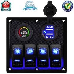 로커 스위치 패널 전원 소켓 디지털 전압계