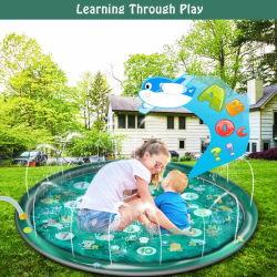 월경 아마존 새로운 물분사 매트 아이들의 잔디밭 게임 매트 PVC 팽창식 물분사 장난감 비말 패드 Sp1016