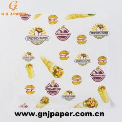 Papier d'emballage imprimés de qualité alimentaire pour sandwich