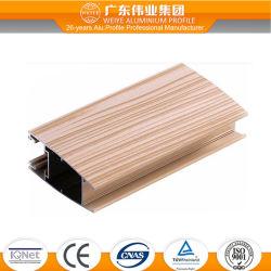 Série 6000 Grãos de madeira na janela de alumínio Perfil para mobiliário decorativo