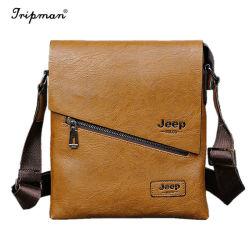 Sacchetto casuale del messaggero del cuoio di affari di marca del cuoio del sacchetto famoso degli uomini