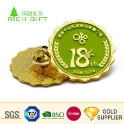 Cina Produttore Custom metallo smalto lampeggiante oro finitura Star Natale Perno per lappatura albero